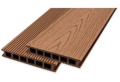 composite decking light brown